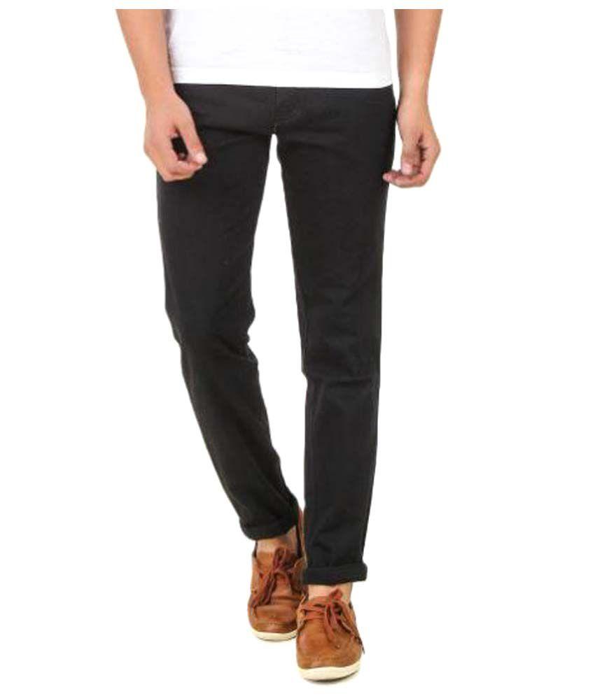 Montare Club Black Regular Flat Trouser