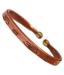 Men Style Brown Copper Round Kada