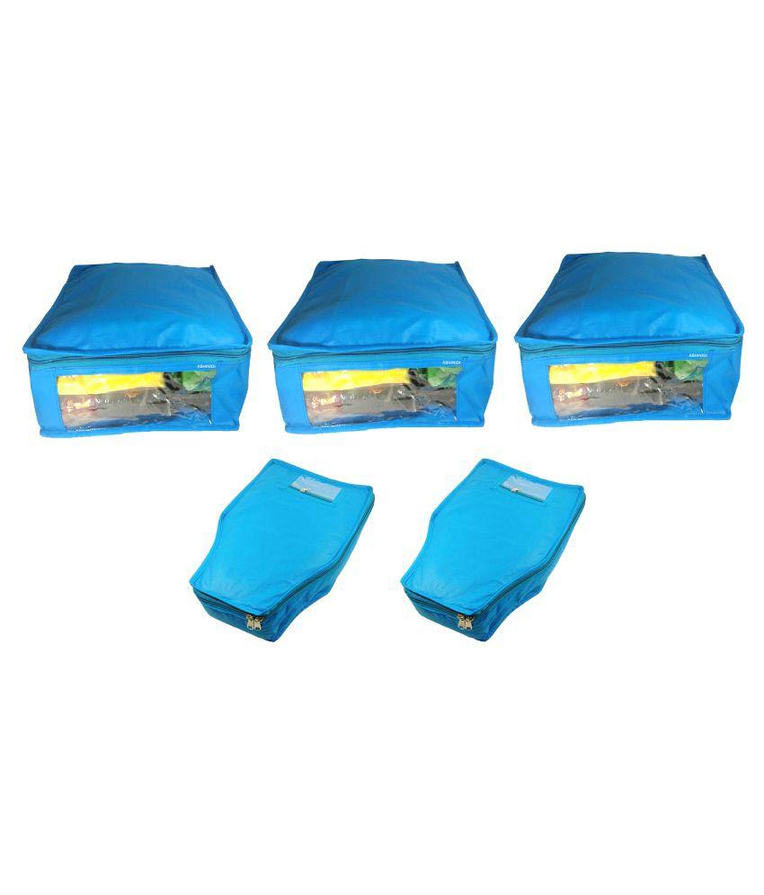 Abhinidi Blue Saree Covers - 5 Pcs