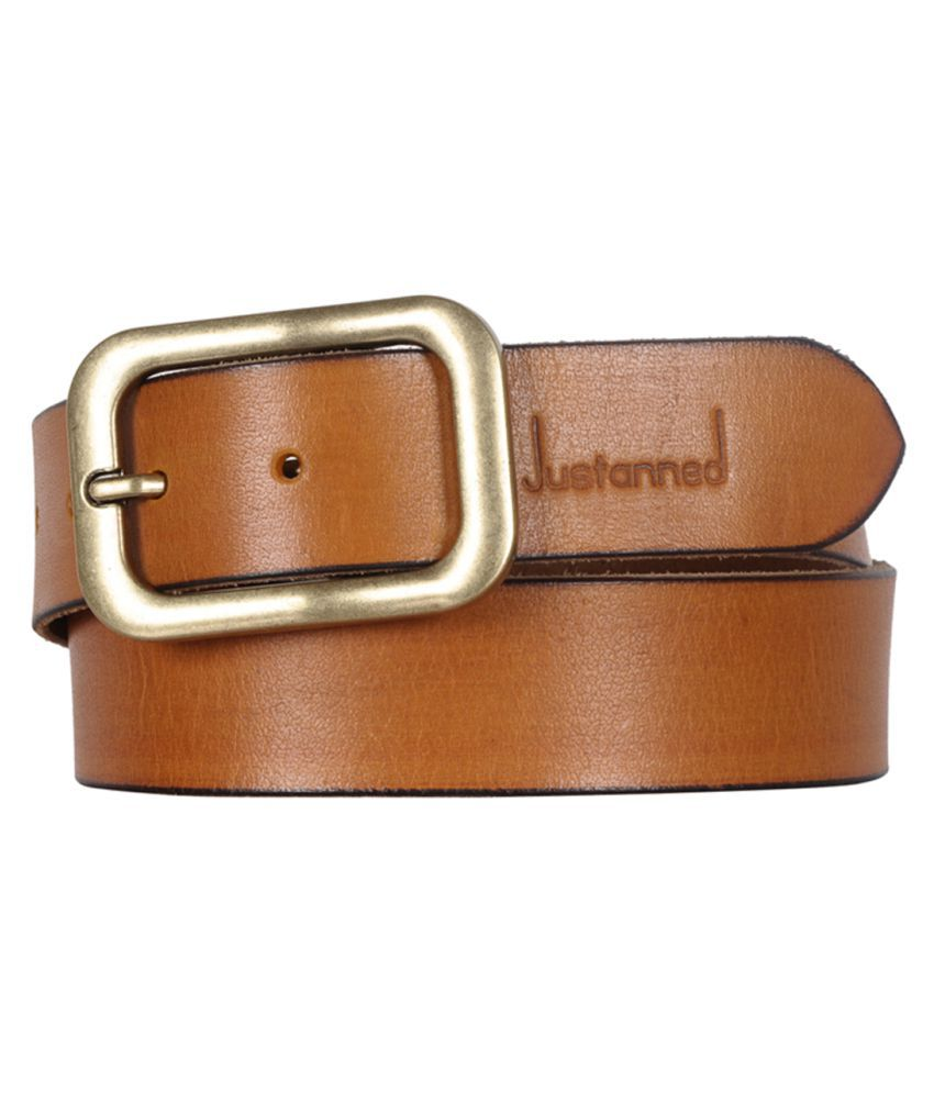 Justanned Tan Leather Casual Belts