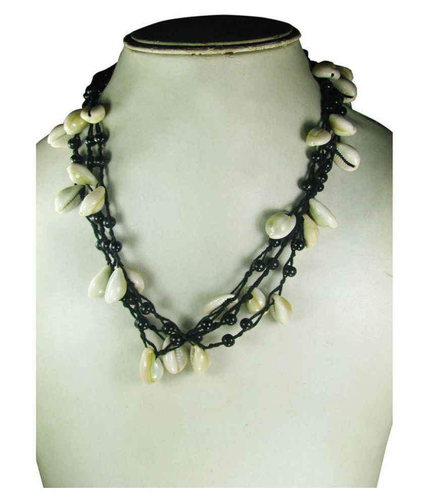 a0b0f4ca2e Collana Black Thread Funky Necklace - Buy Collana Black Thread Funky ...