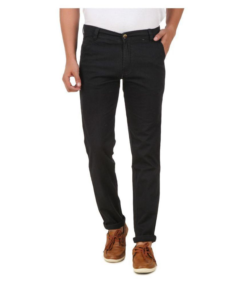 Montare Club Black Regular Flat Trouser