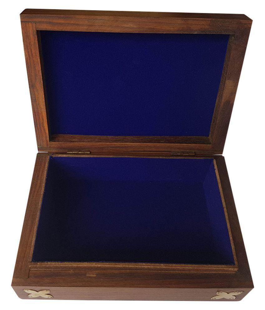 Sixth Sense Handcrafted Multicolour Brass Jewellery Box