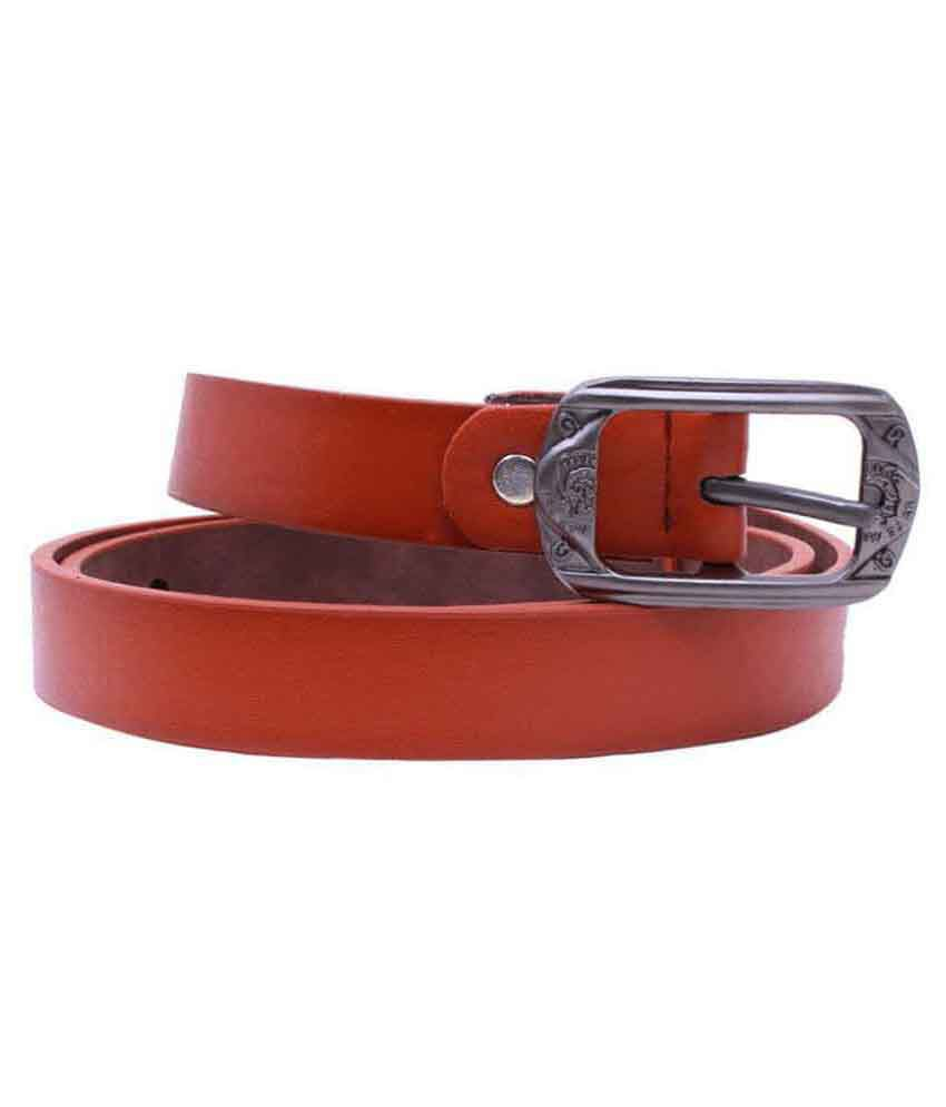 Ambaliya Fashion Red Leather Formal Belts