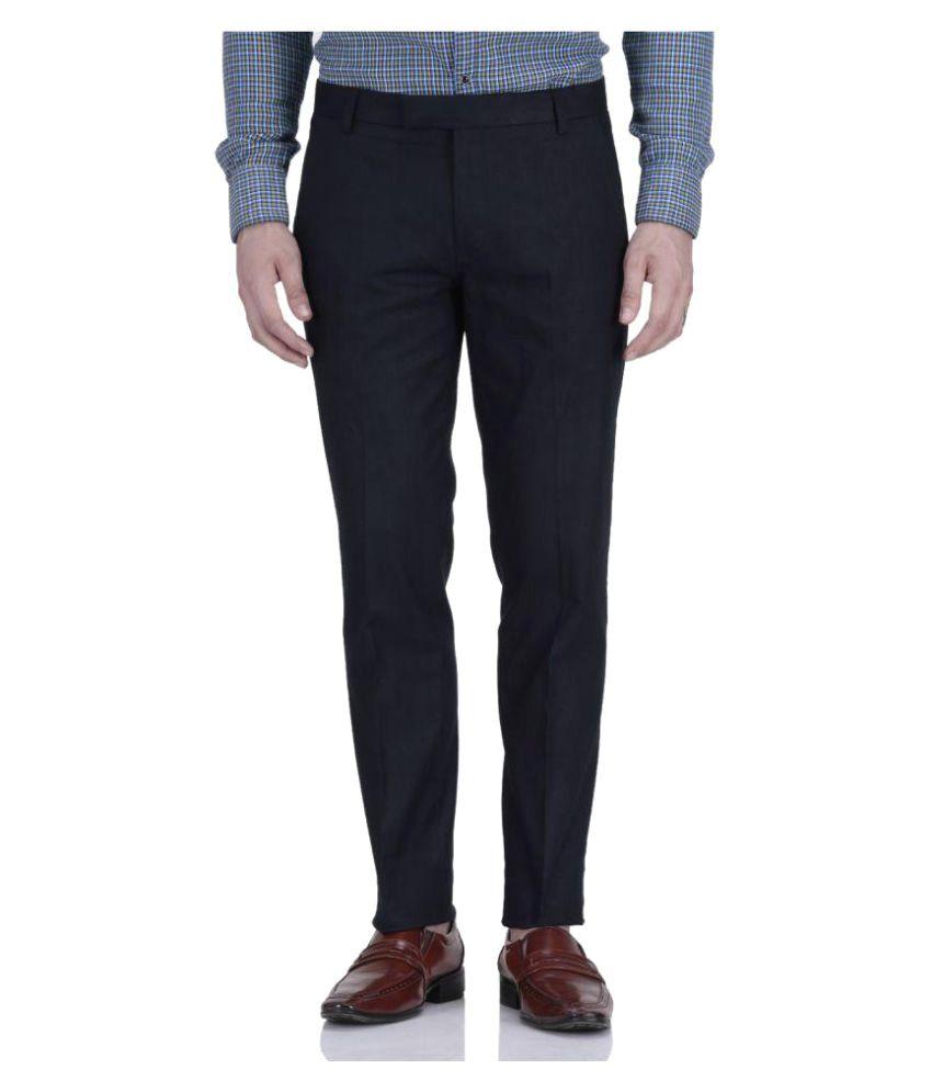 Fabulous Dark Blue Regular Pleated Trouser