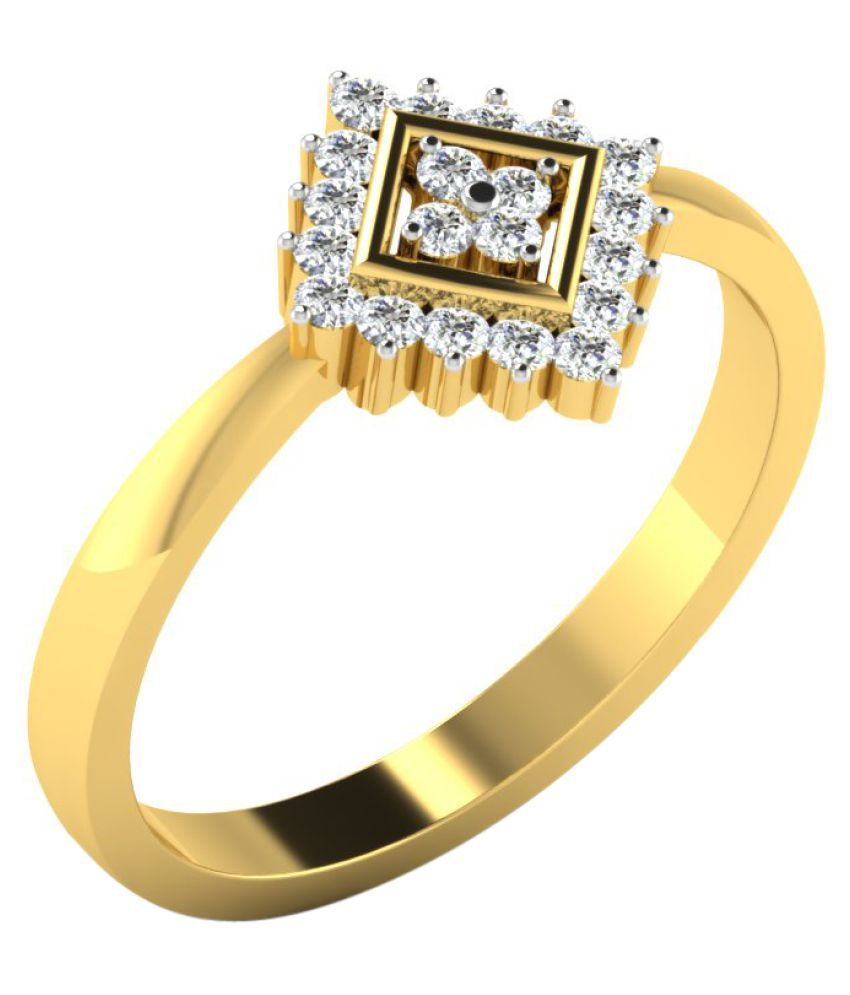Sparkles 9K Yellow Gold Diamond Ring