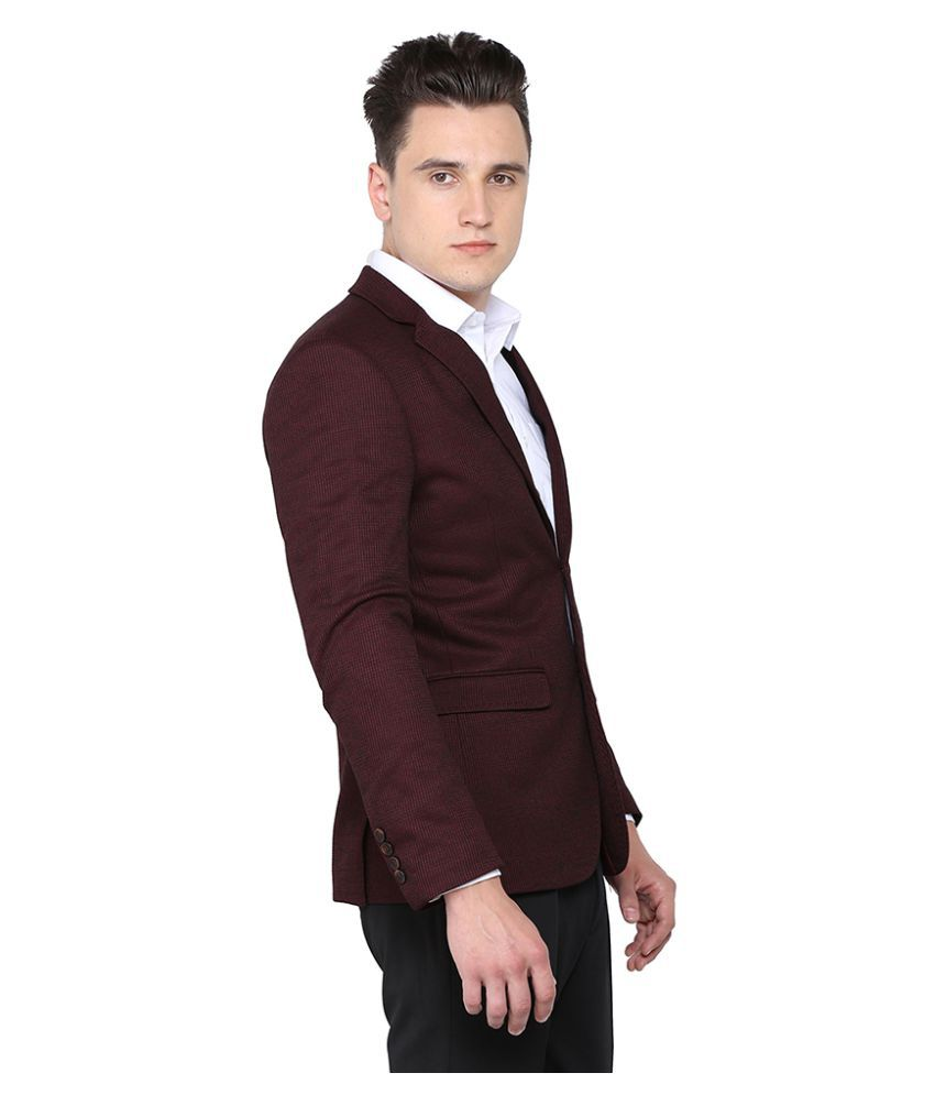 d920e920fec6 Arrow Maroon Solid Formal Blazers Arrow Maroon Solid Formal Blazers ...