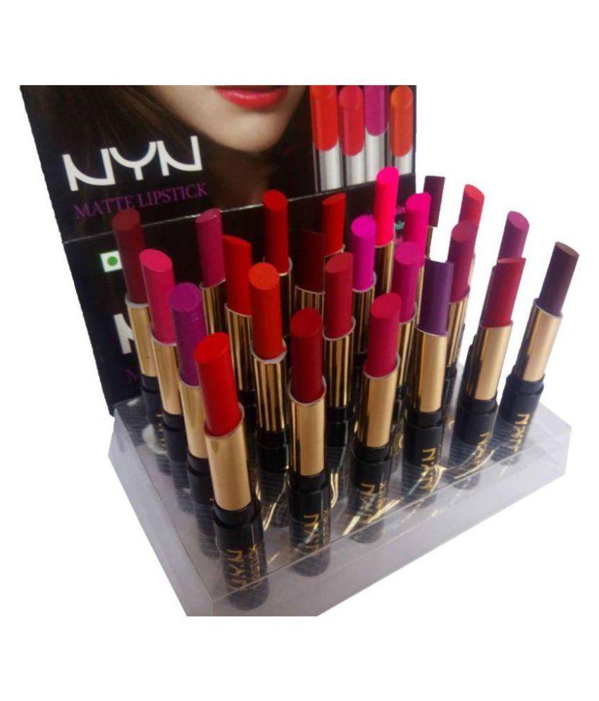 NYN Matte finish Lipstick (Set of 24 pcs)