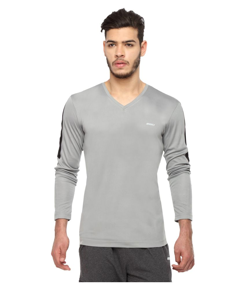 2go Grey V-Neck T-Shirt
