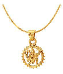 Mahi Exa Collection Hanuman Gold Plated Religious God Pendant For Men & Women Ps6012028g