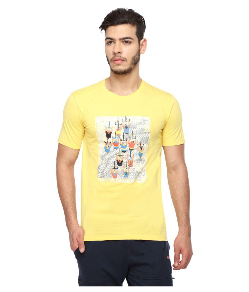 2go Yellow Round T-Shirt