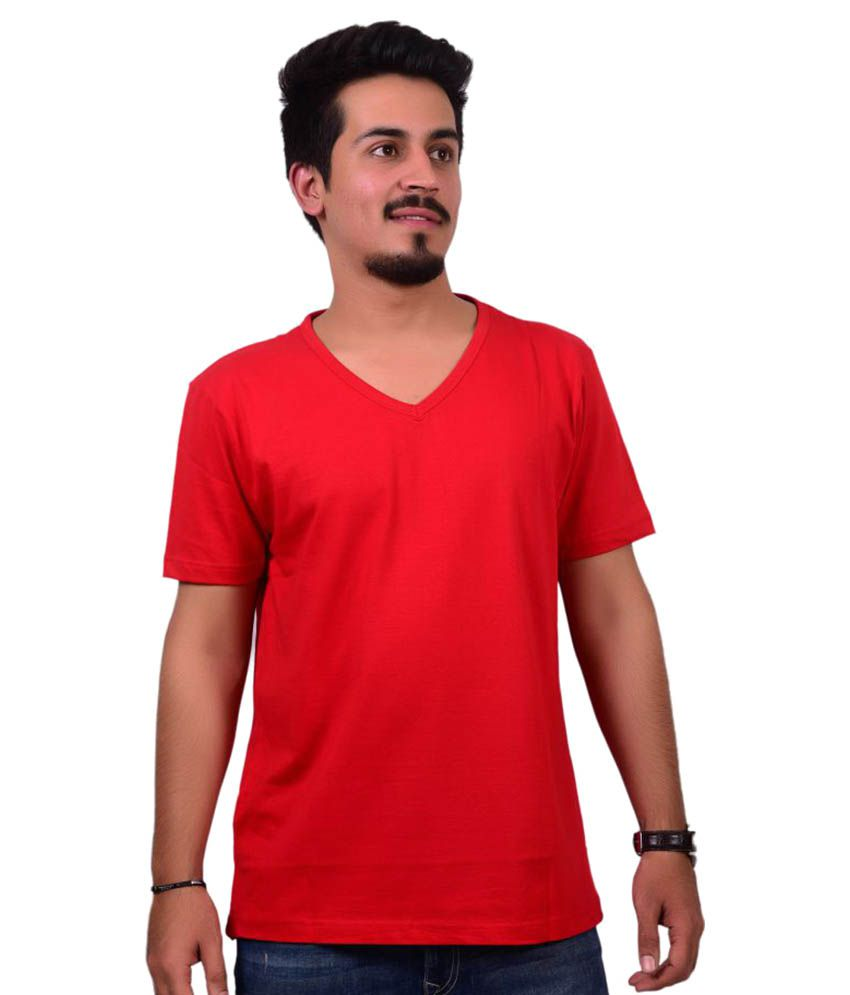 Ditto Red V-Neck T-Shirt