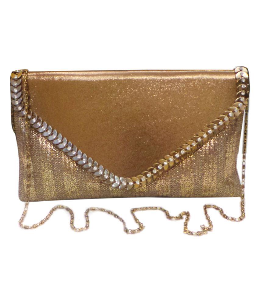 Vardhini Gold Jute Box Clutch