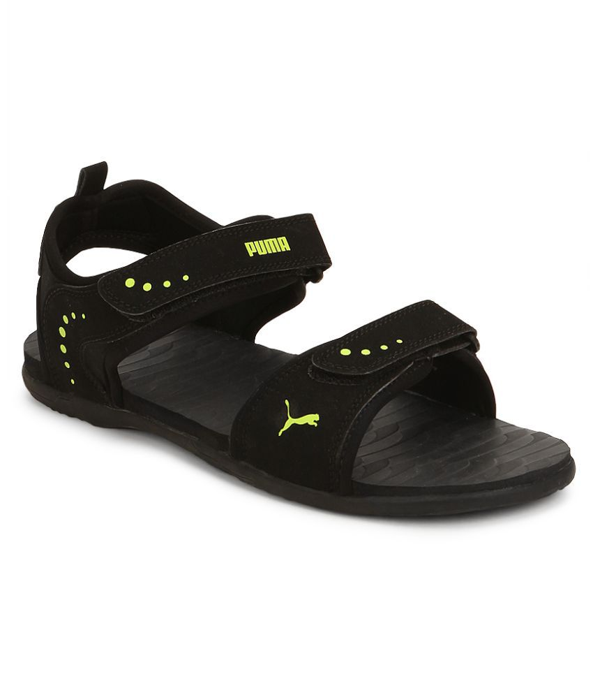 5d1bb5ae9cd914 Puma Black Floater Sandals - Buy Puma Black Floater Sandals Online ...