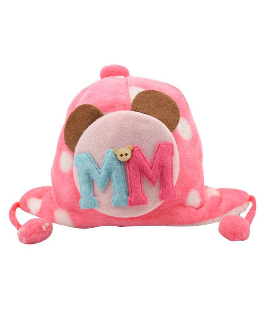 Tiekart Pink Kids Warm Caps