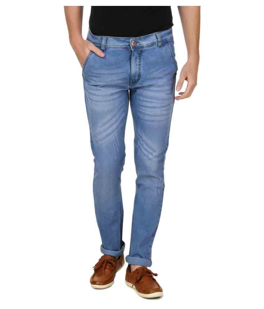 5ACE Light Blue Slim Washed