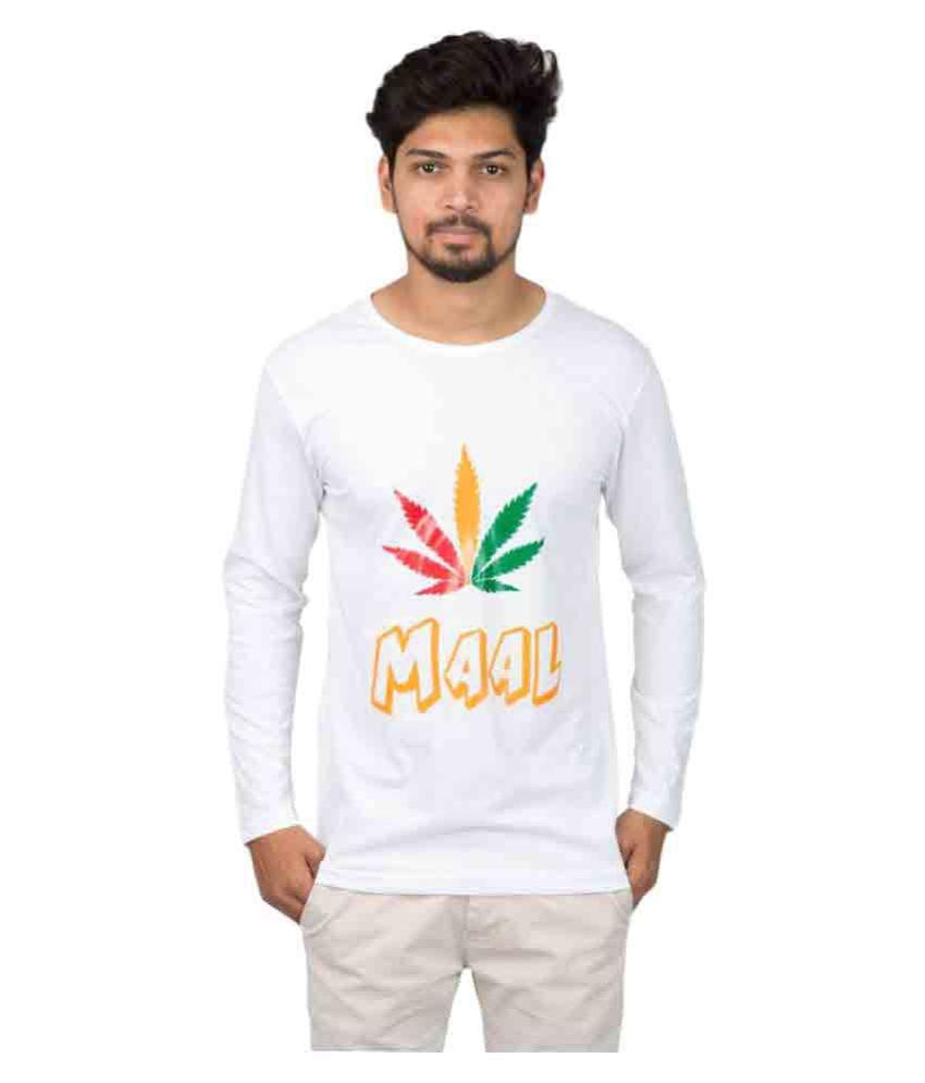 Desitudes White Round T-Shirt