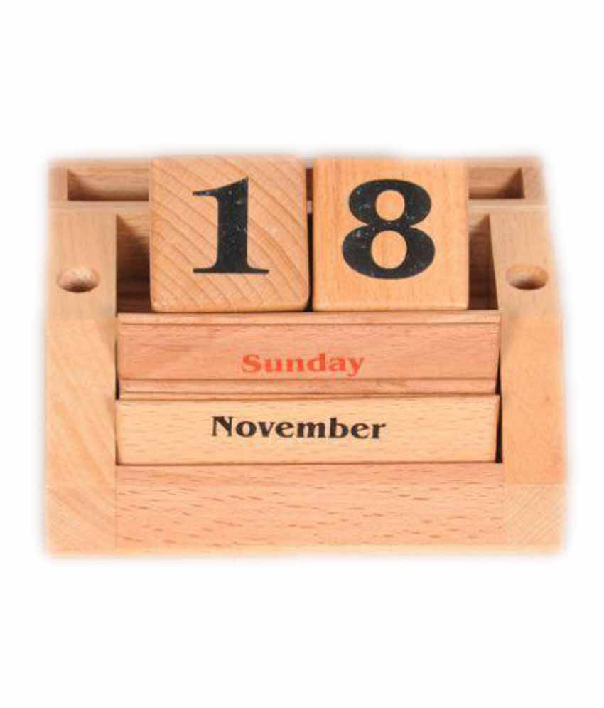 Channapatna Crafts Irreplaceable Wooden Calendar Buy Online