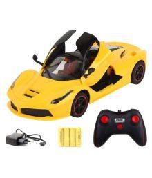 Flying Toyszer Remote Controlled Ferrari Car - Yellow