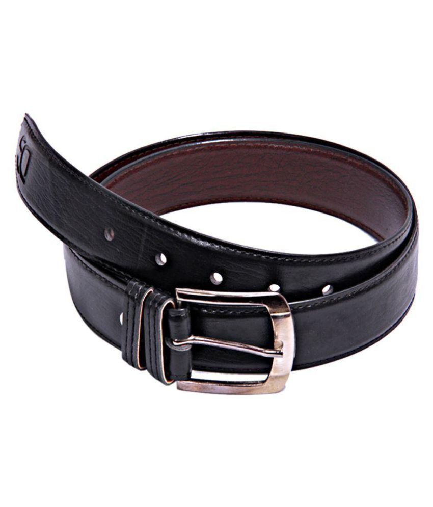 Apna Shopping Centre Black Faux Leather Formal Belts