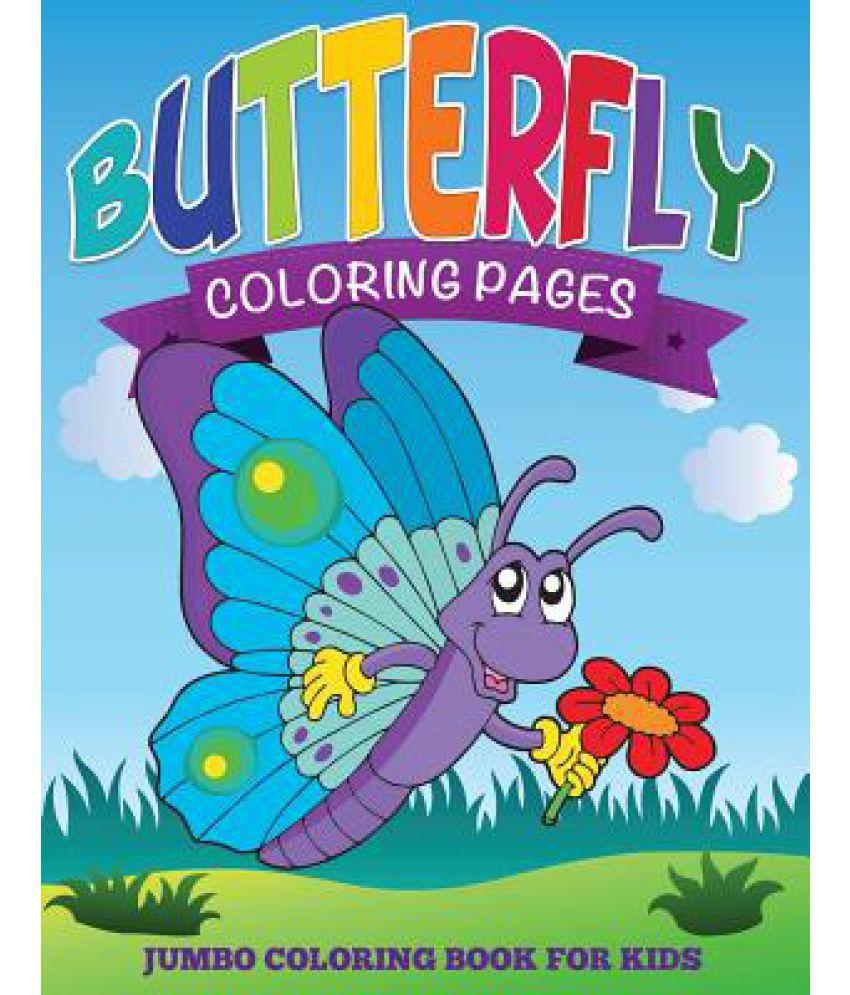 Mandala coloring pages (jumbo coloring book) - Butterfly Coloring Pages Jumbo Coloring Book For Kids Buy