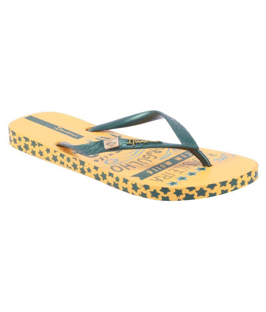Ipanema Green Flip Flops