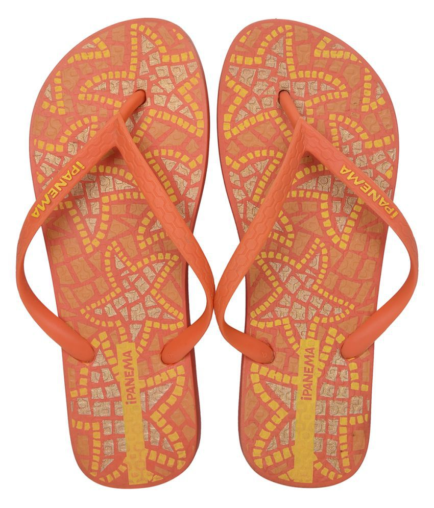 Ipanema Orange Slippers