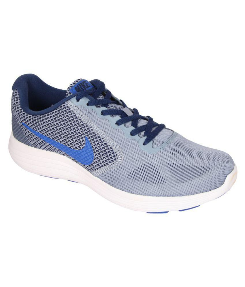 e22f6a24d8d Nike REVOLUTION 3 Blue Running Shoes - Buy Nike REVOLUTION 3 Blue Running  Shoes Online at Best Prices in India on Snapdeal
