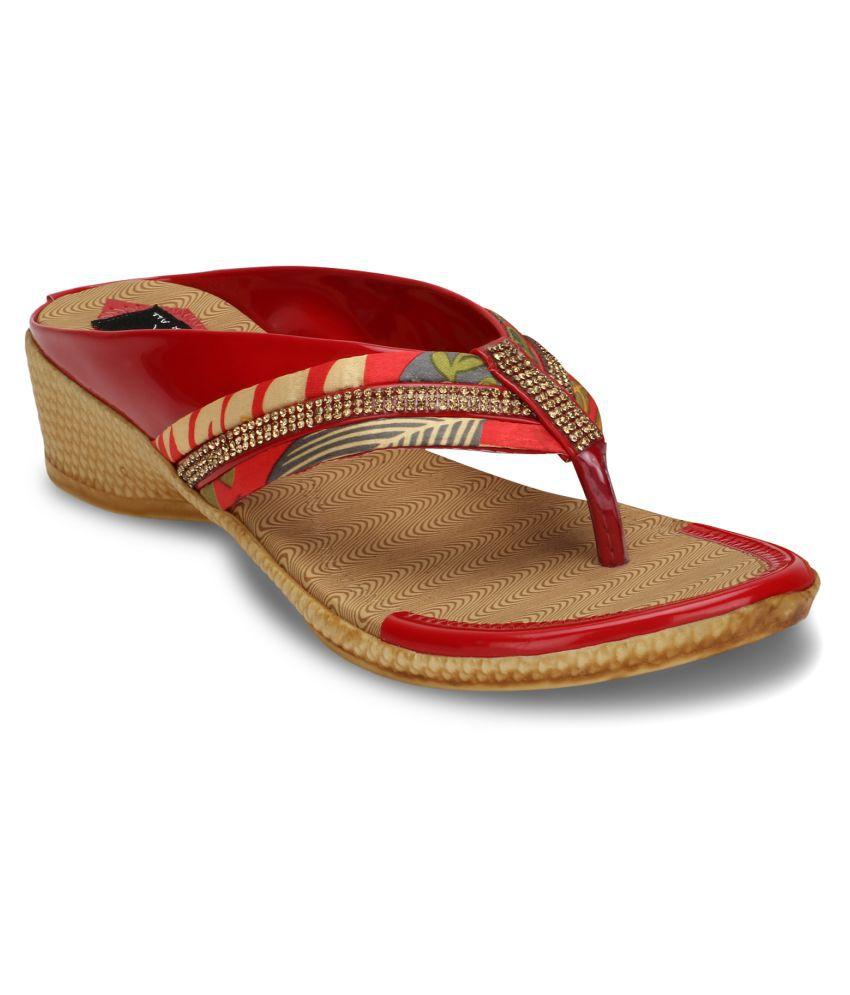 Jayn Martin Red Wedges Heels