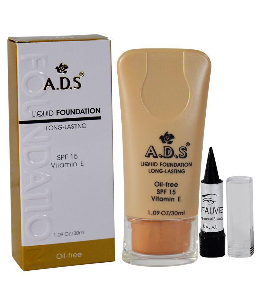 ADS GCI Free Kajal With Liquid Foundation beige 30 ml