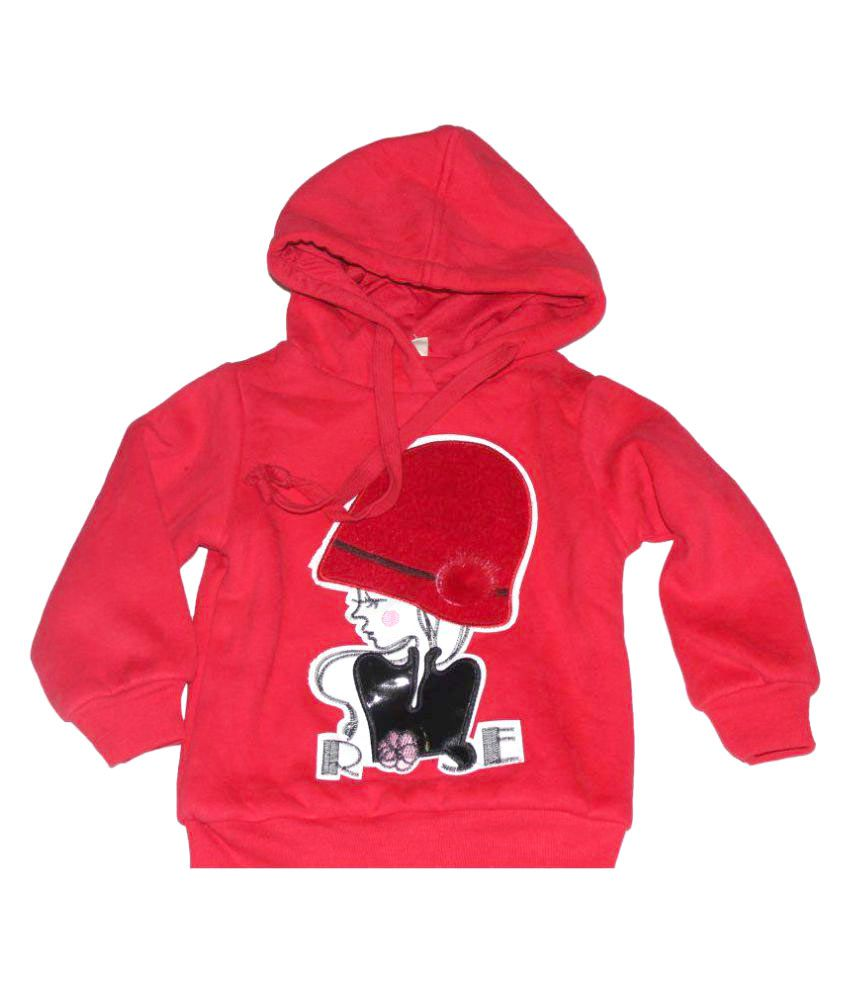 Piperz Red Graphic Sweatshirt