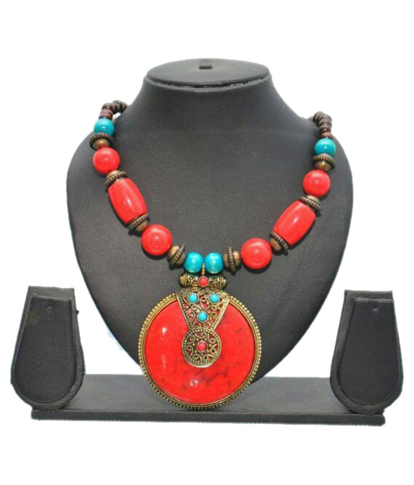 Kraft Call Red Necklace & Set