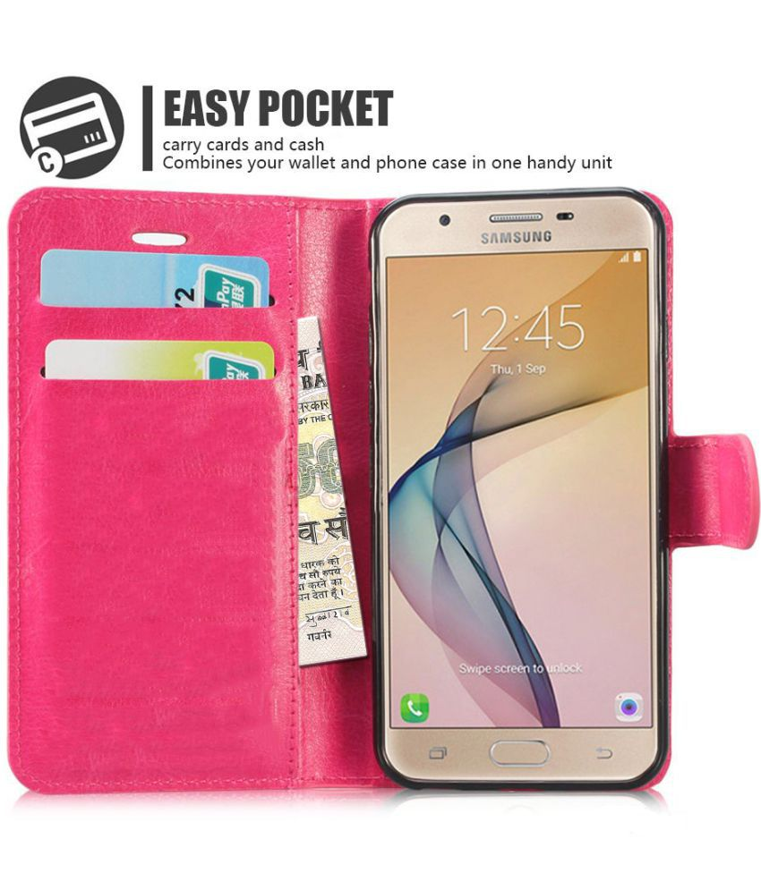 pretty nice caea6 a09dc Samsung Galaxy J2 Pro Flip Cover by N+ INDIA - PINK