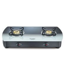 Prestige GTS 02 2 Burners Glass Manual Gas Stove