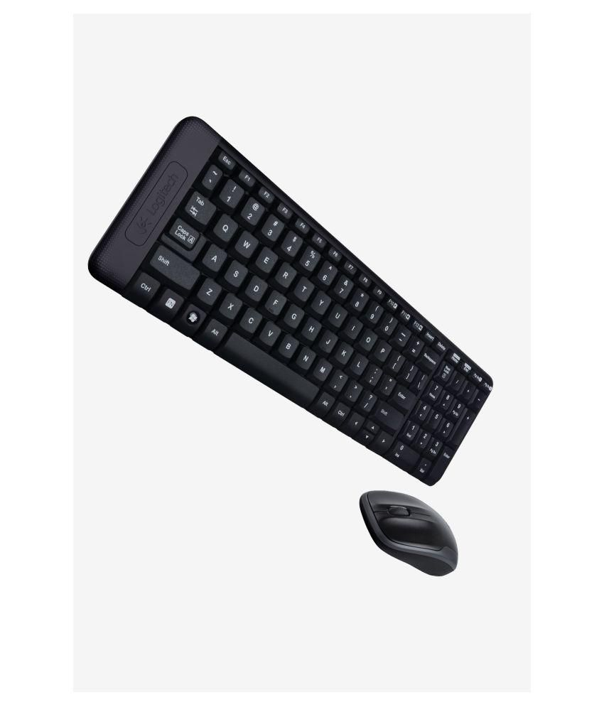 Logitech mk220 Black Wireless Keyboard Mouse Combo Keyboard