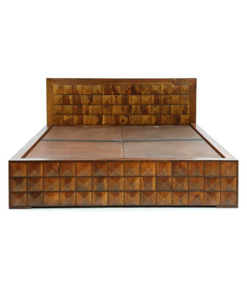 evok diamond solid wood queen size storage bed buy evok diamond