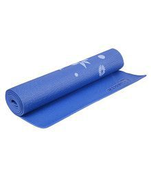 Strauss Floral Yoga Mat 6MM with Cover (Blue)