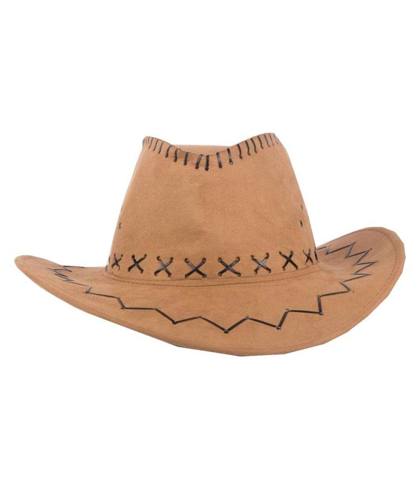 Goodluck Beige Plain Fabric Hats