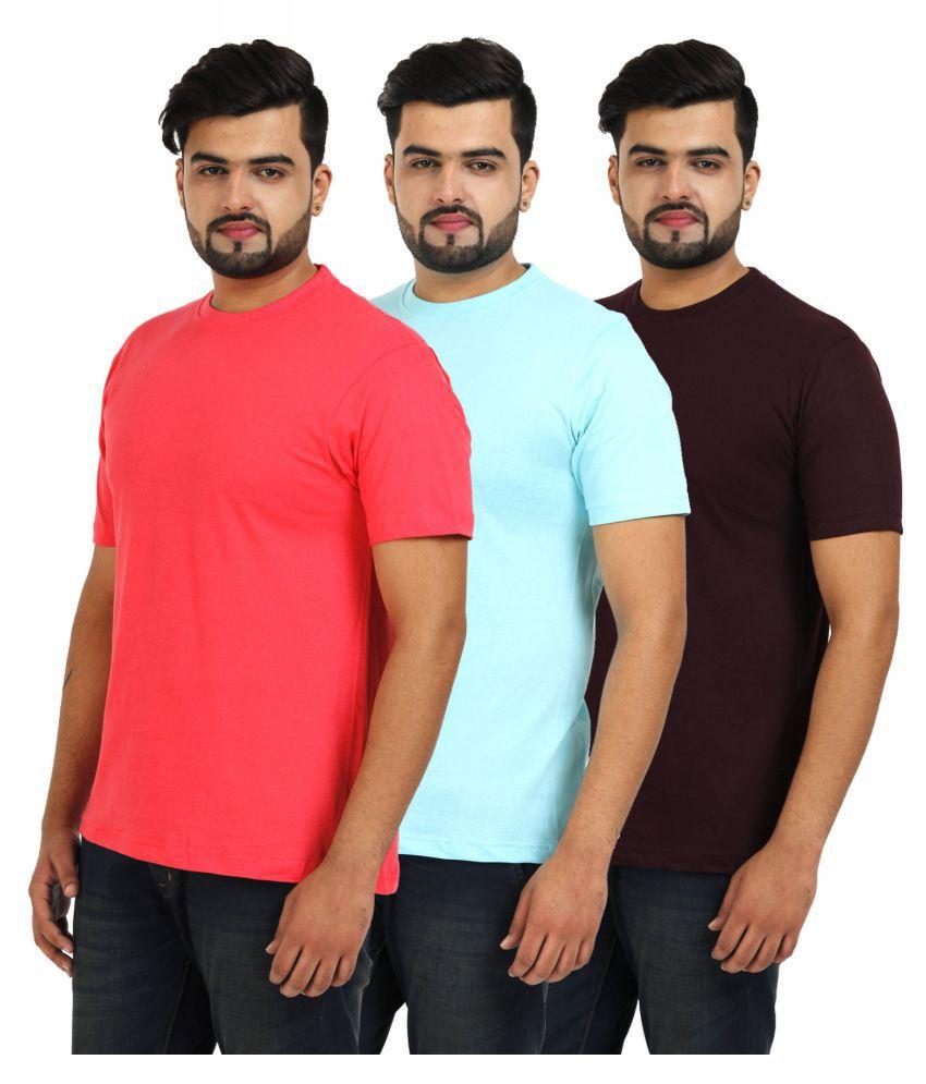 TT Multi Round T-Shirt Pack of 3