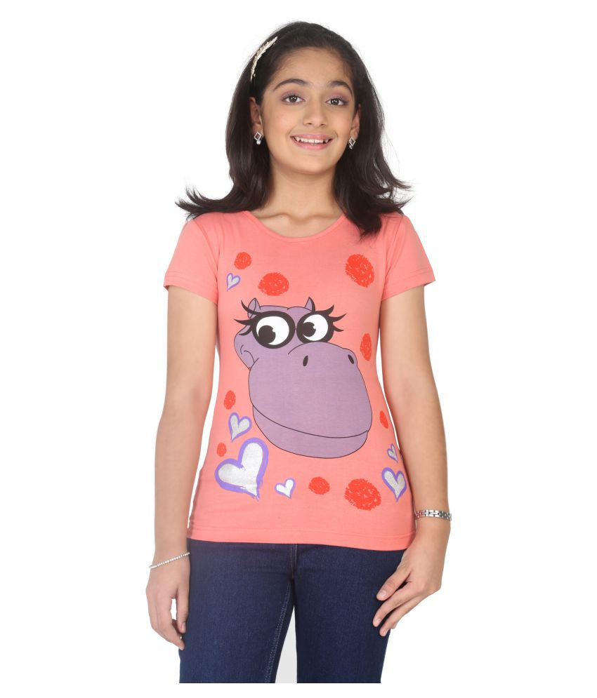 2cbc3d284e Imagica Orange Printed Girls T-shirt - Buy Imagica Orange Printed Girls T-shirt  Online at Low Price - Snapdeal
