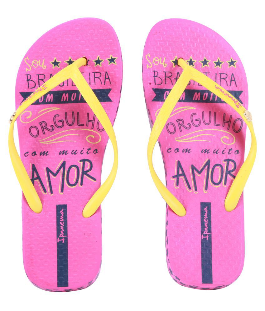Ipanema Yellow Flip Flops