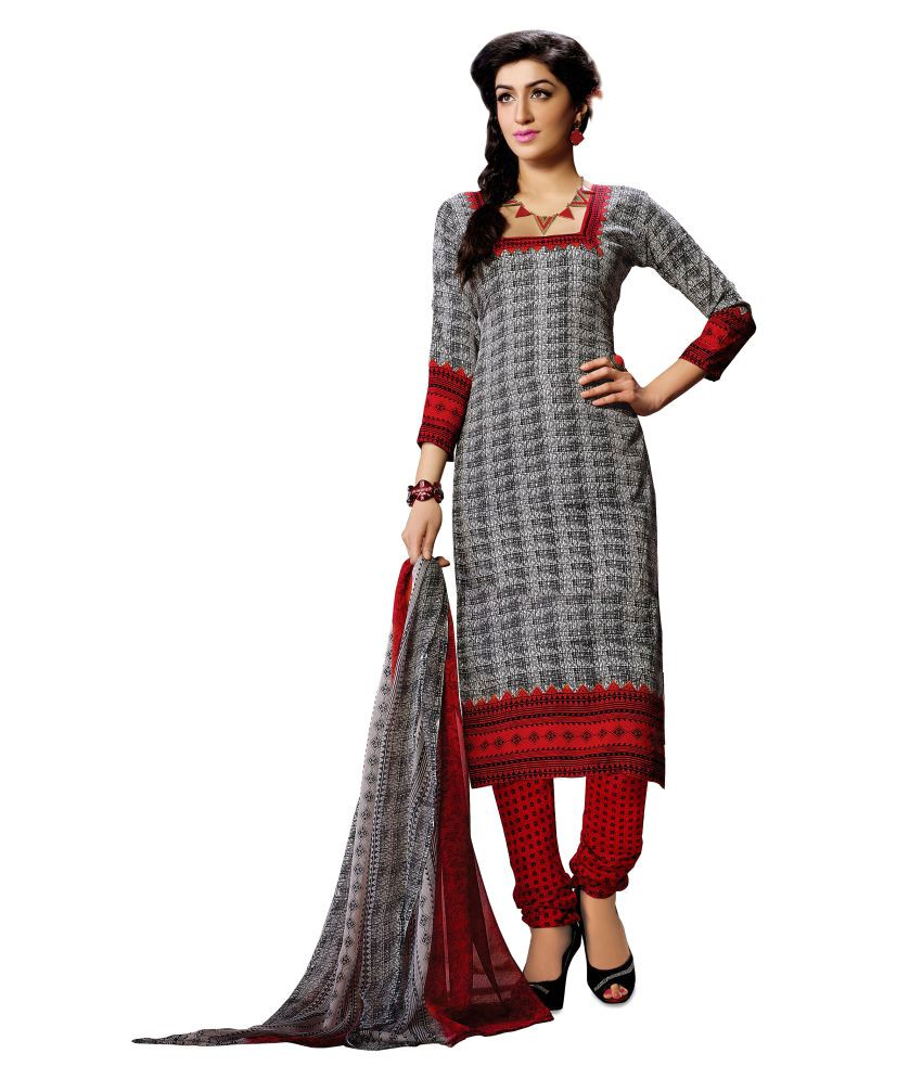 Designer Salwar Suit Multicoloured Crepe Dress Material