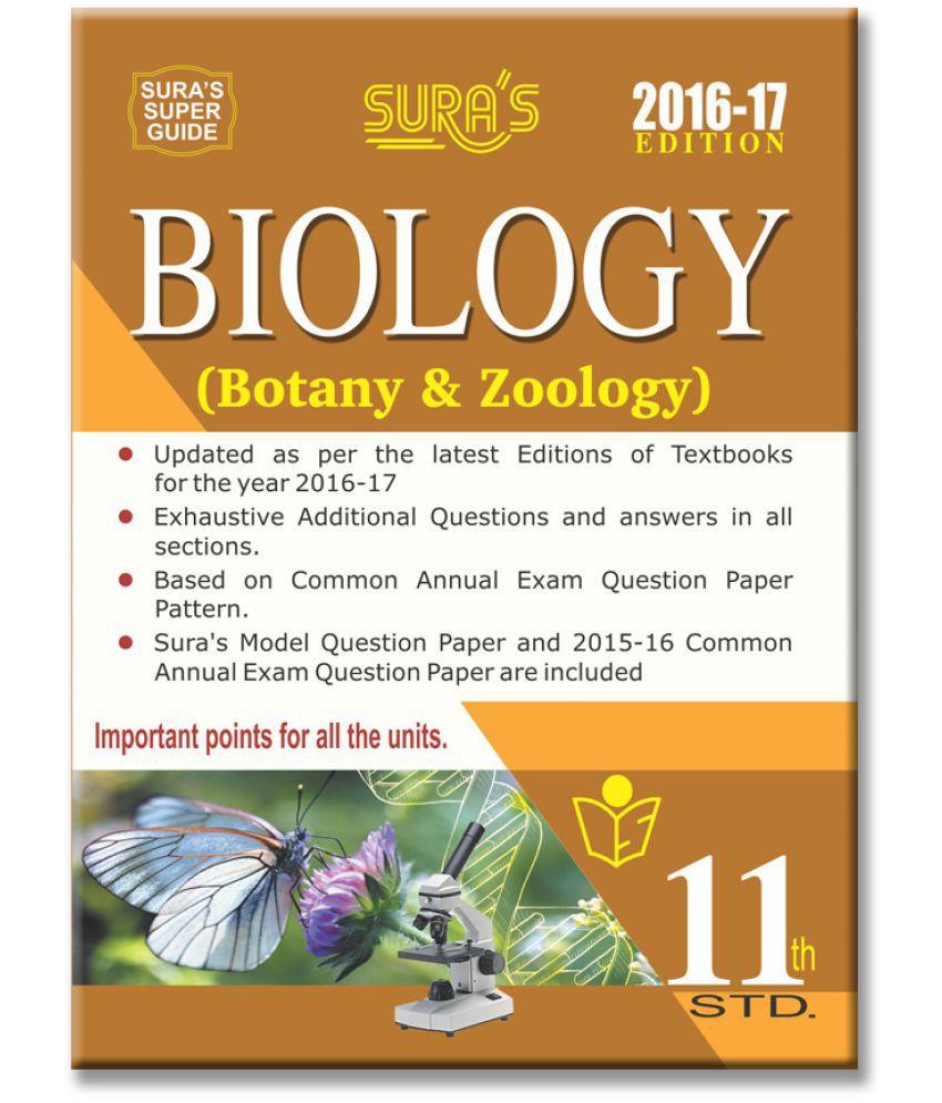 11th Standard Biology Botany & Zoology Guide English Medium Tamilnadu State  Board Samacheer Syllabus