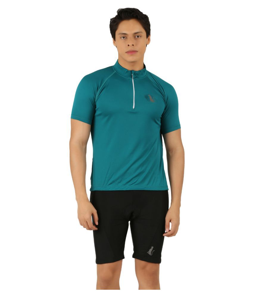 Leopardskyn Dark Green Men's Cycling Jersey T-Shirt