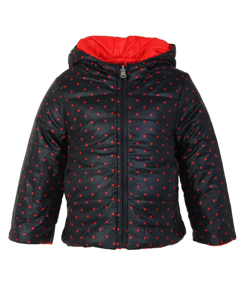 United Colors of Benetton Black Printed Reversible Jacket