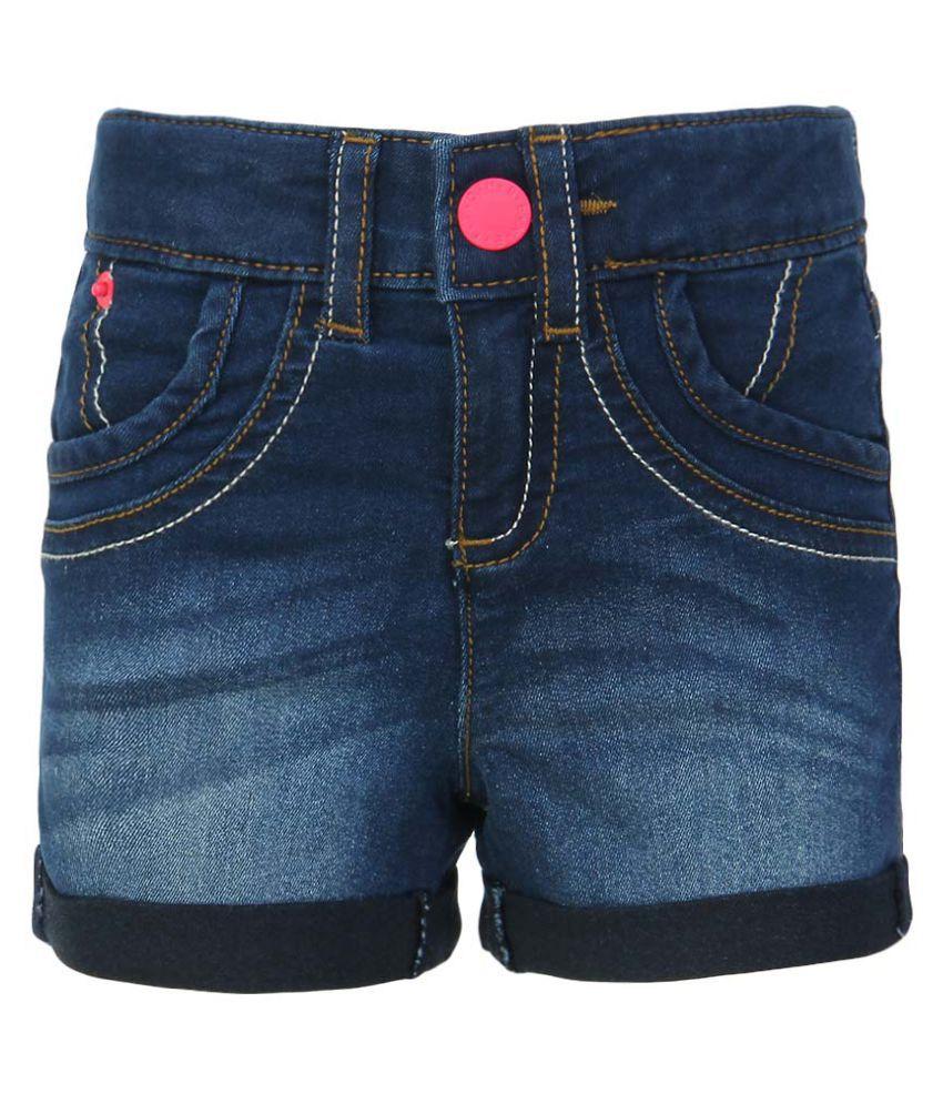 United Colors of Benetton Blue Denim Shorts