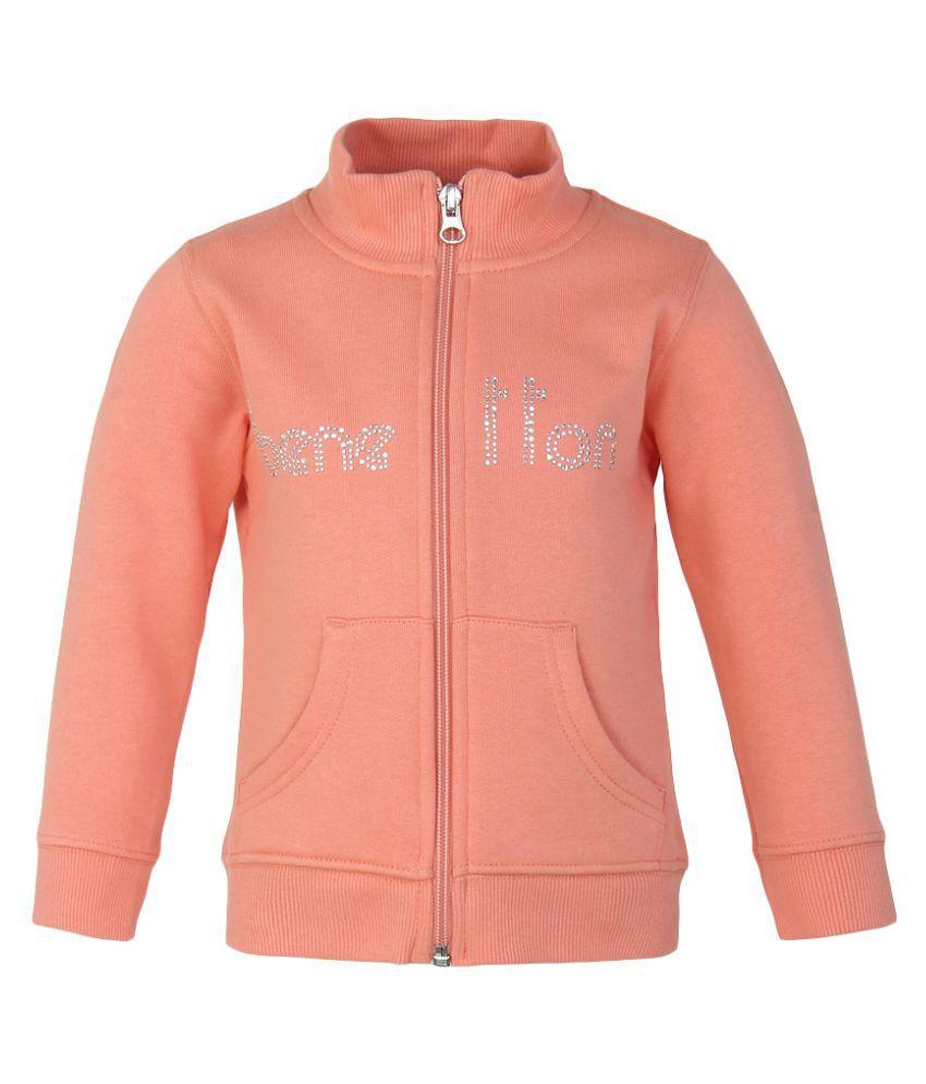 United Colors of Benetton Peach Zippered Sweatshirt