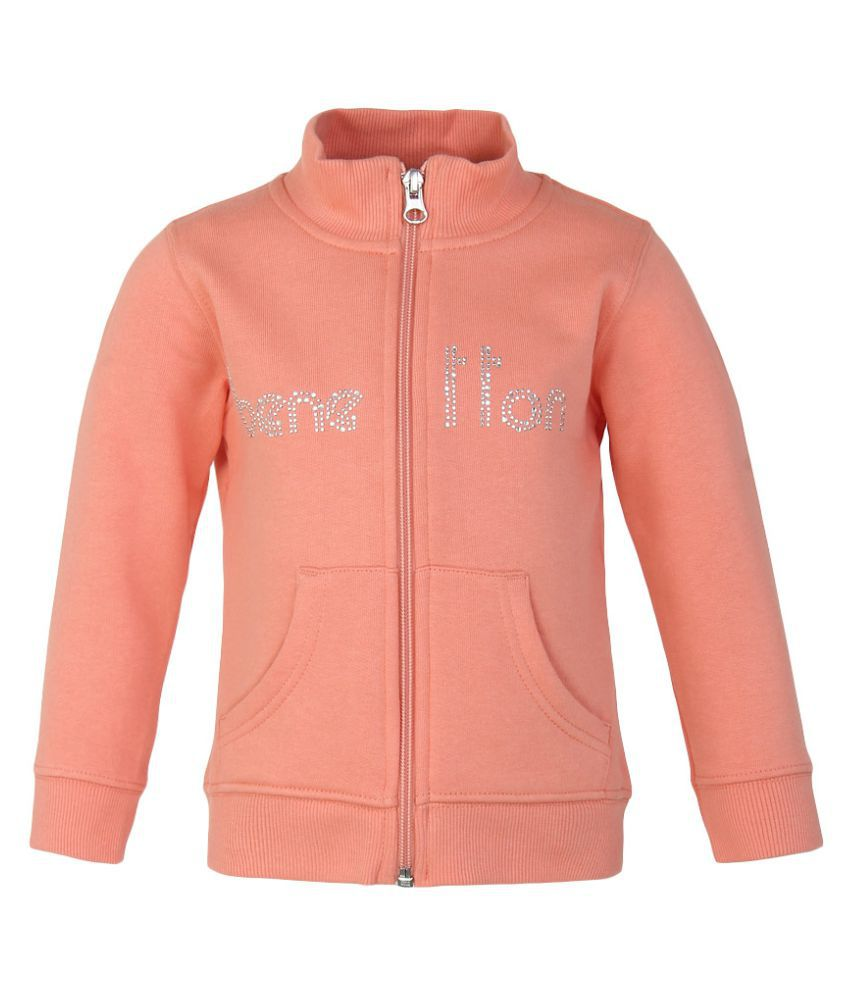 United Colors of Benetton Peach Zippered Sweatshirt