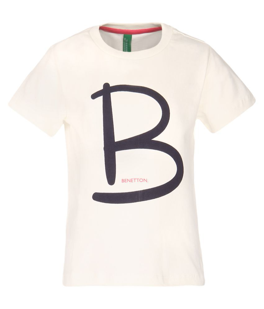 United colors of benetton off white printed t shirt buy for T shirt printing one off
