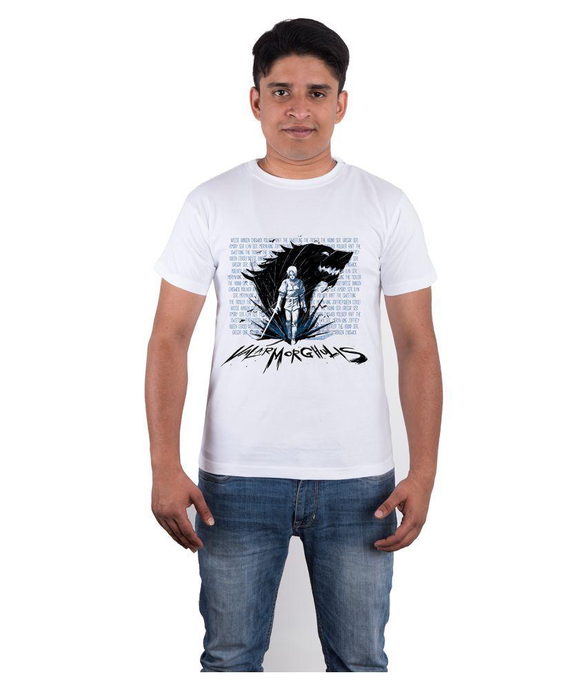 Tee Cultr White Round T-Shirt